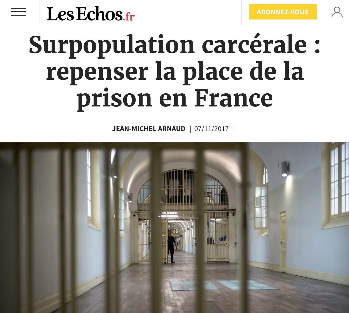 Surpopulation carcérale : repenser la place de la prison en France