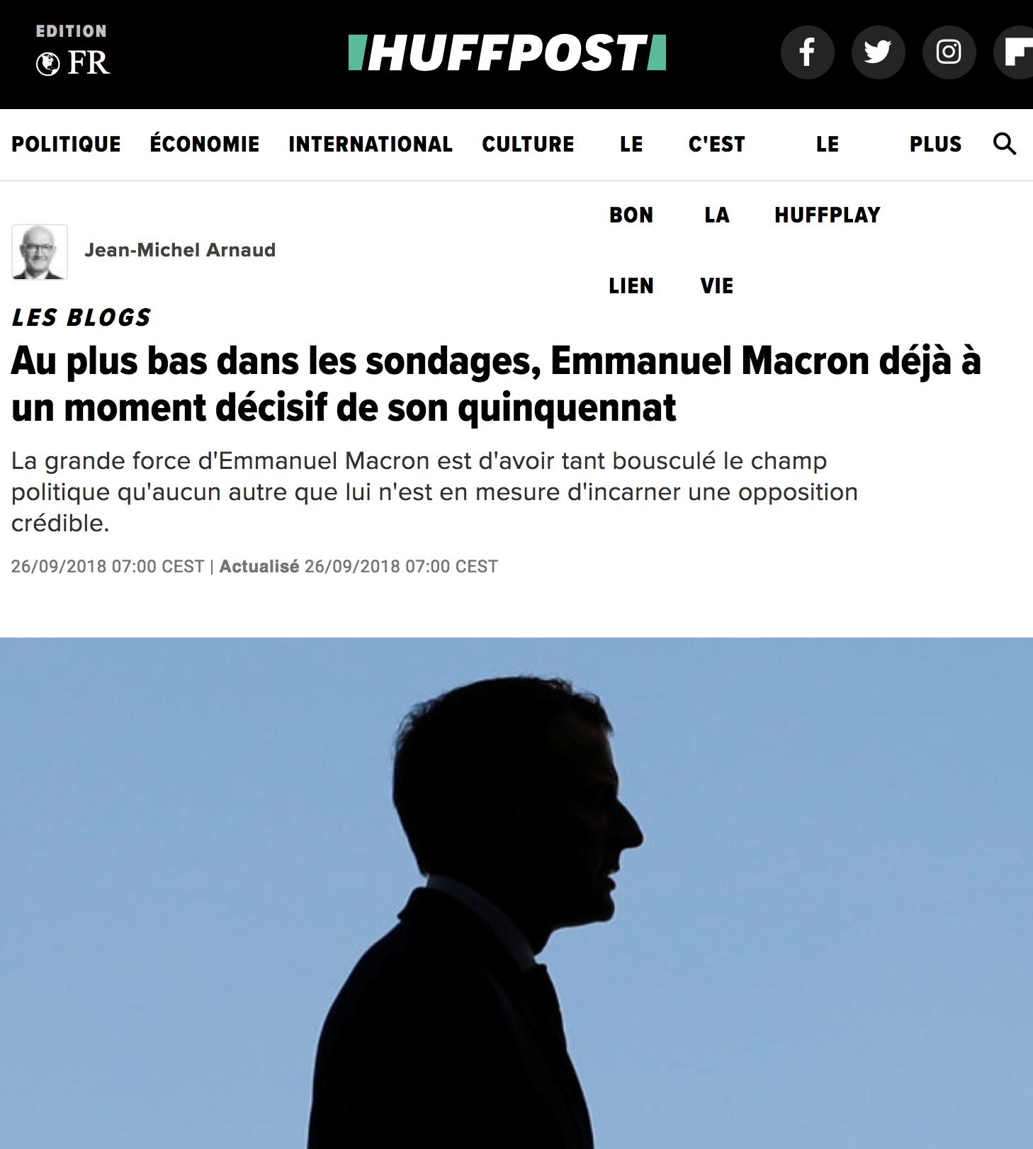 Au plus bas dans les sondages, Emmanuel Macron déjà à un moment décisif de son quinquennat