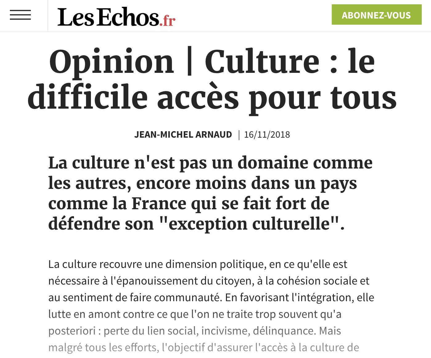 Culture : le difficile accès pour tous