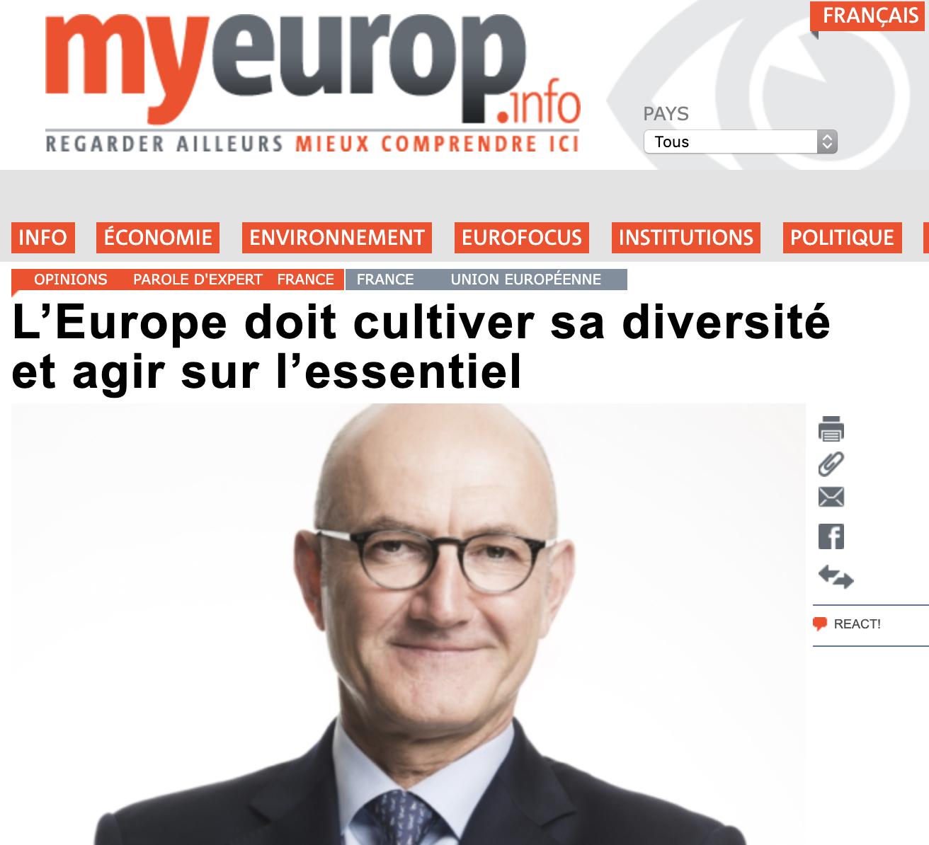 L'Europe doit cultiver sa diversité et agir sur l'essentiel