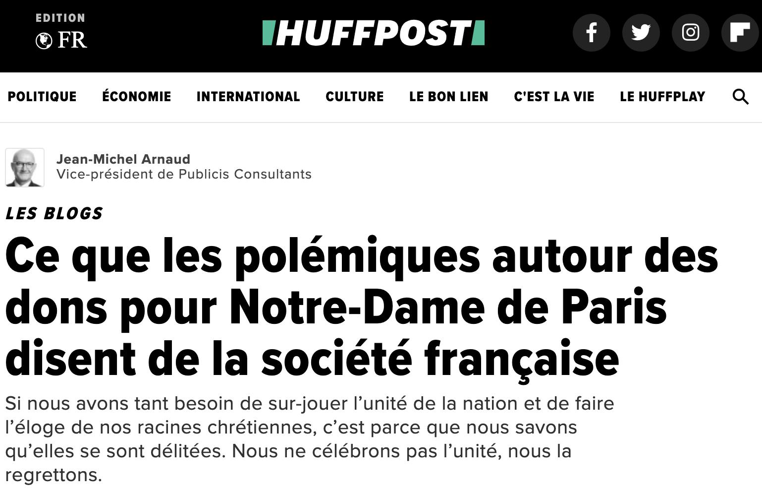 Ce que les polémiques autour des dons pour Notre-Dame de Paris disent de la société française