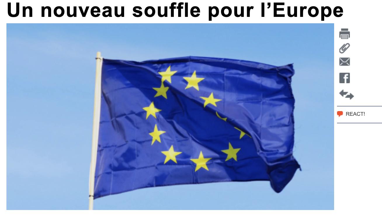 Un nouveau souffle pour l'Europe