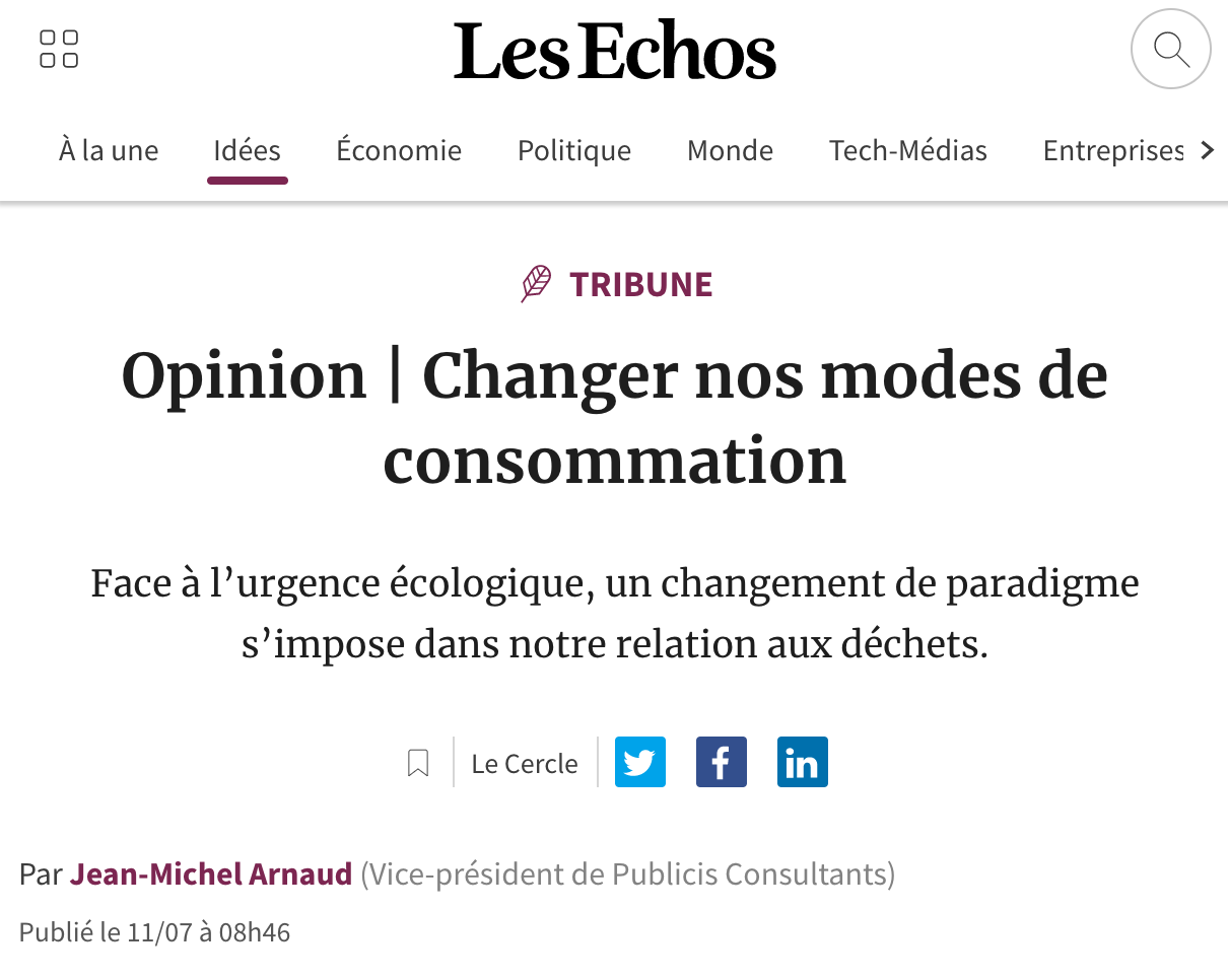 Changer nos modes de consommation