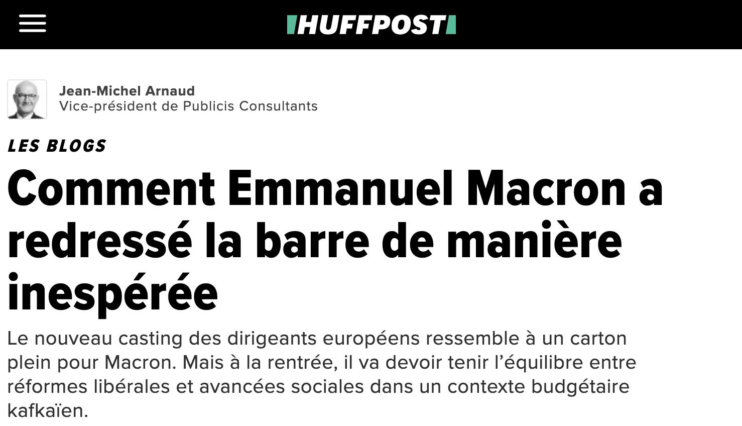 Comment Emmanuel Macron a redressé la barre de manière inespérée