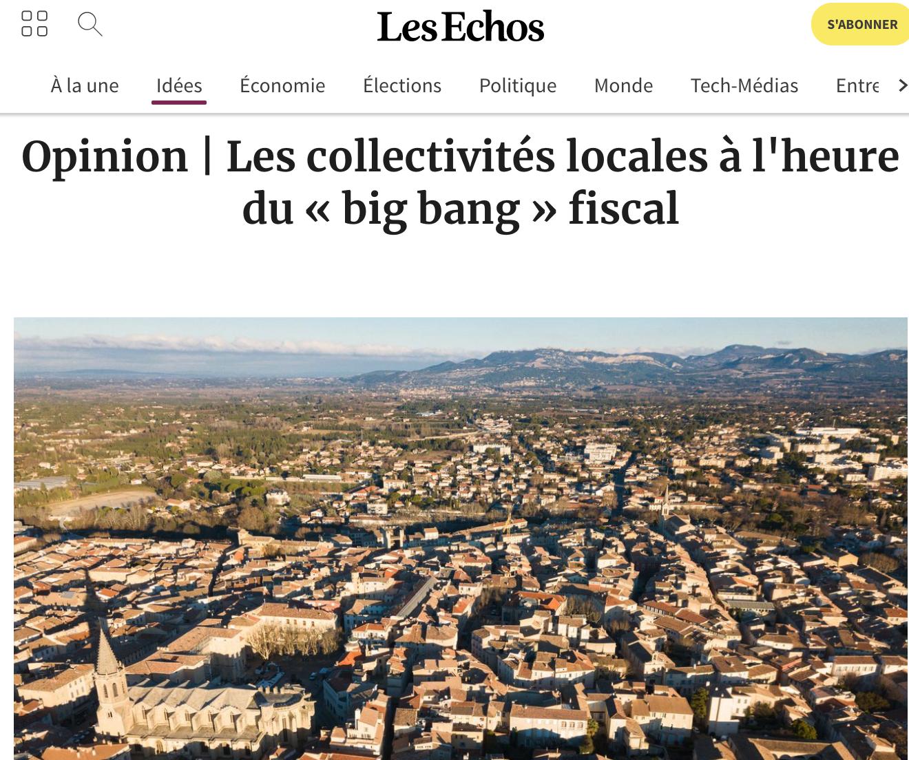 Les collectivités locales à l'heure du « big bang » fiscal