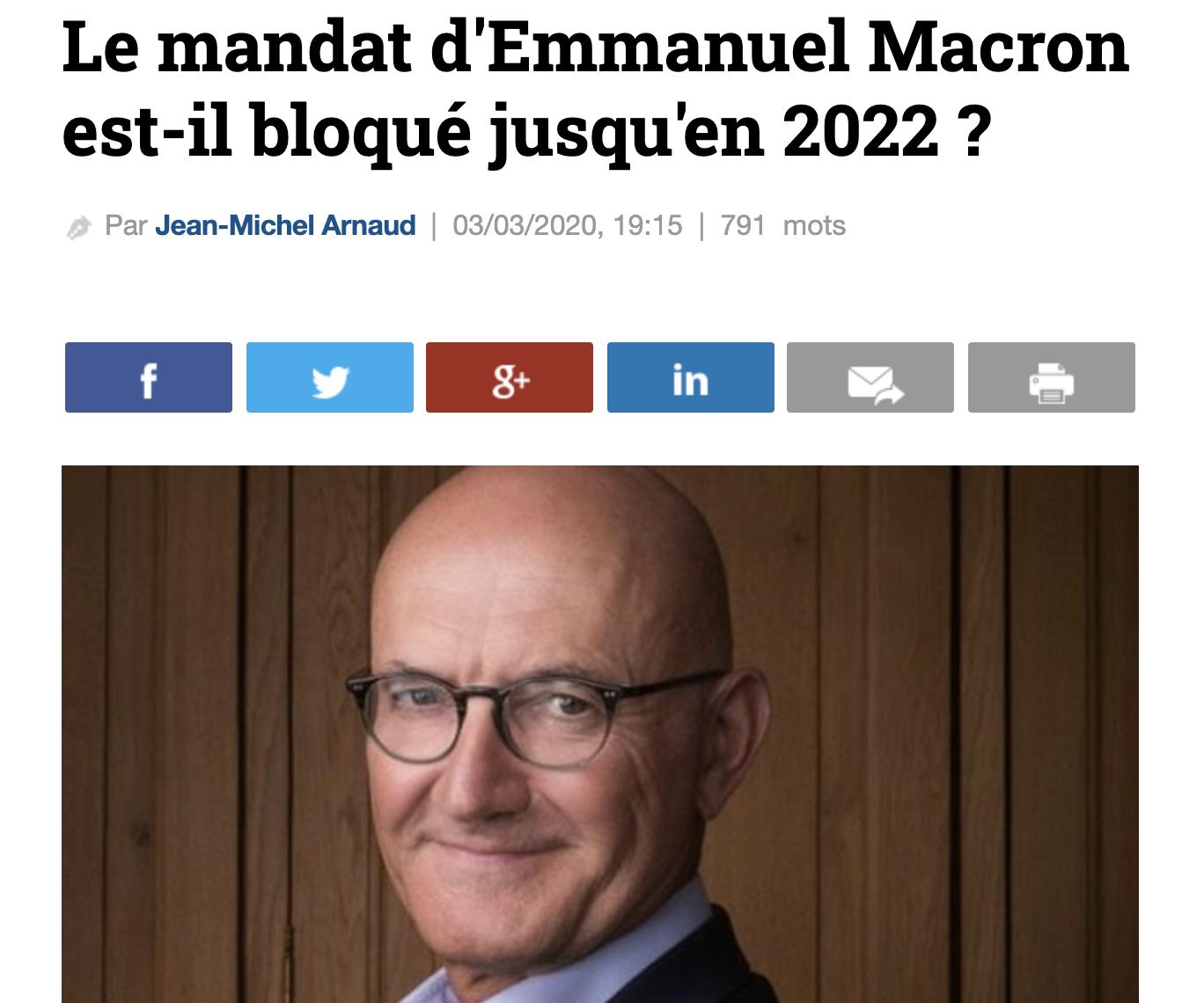 Le mandat d'Emmanuel Macron est-il bloqué jusqu'en 2022 ?