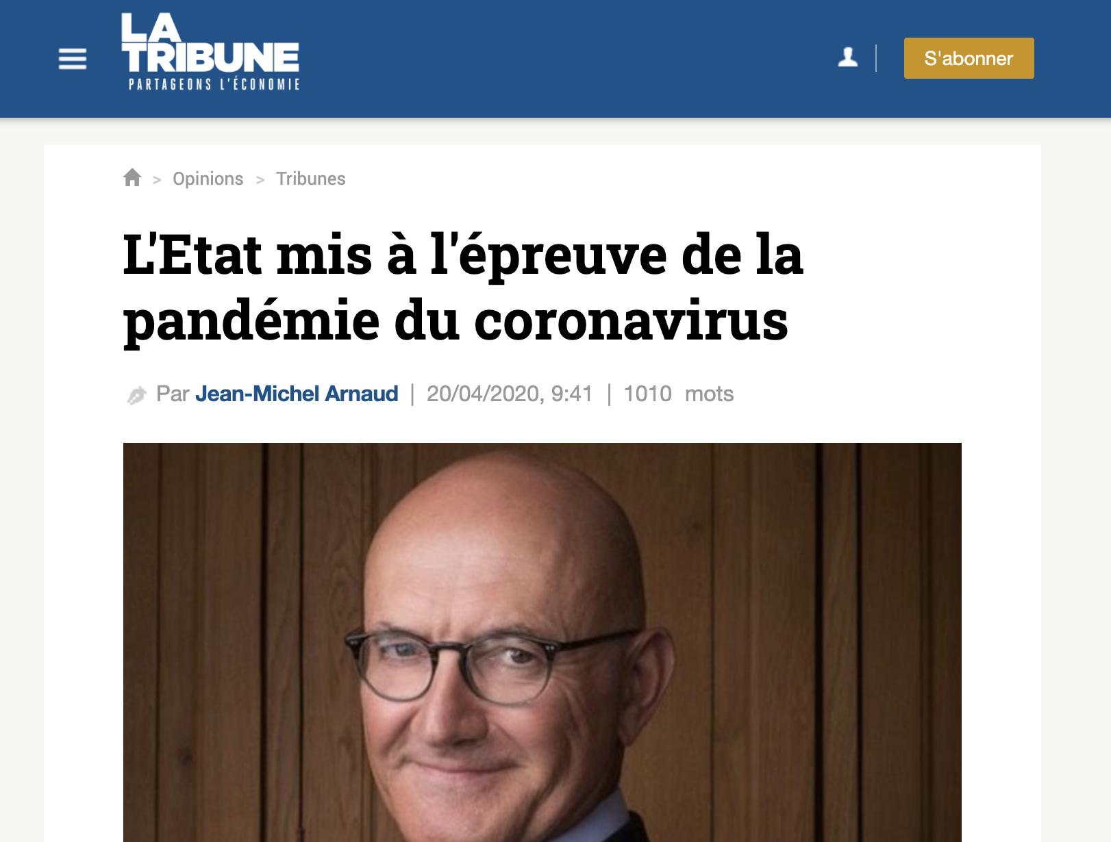 L'Etat mis à l'épreuve de la pandémie du coronavirus