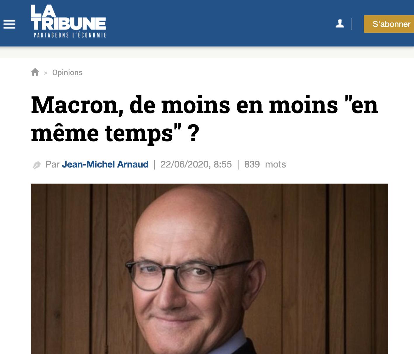 Macron, de moins en moins «en même temps» ?