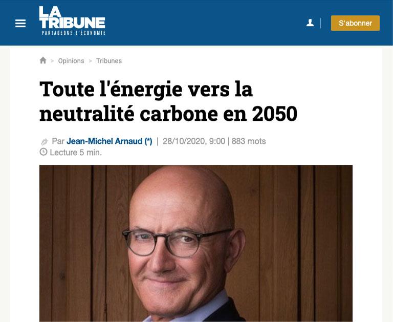 Toute l'énergie vers la neutralité carbone en 2050