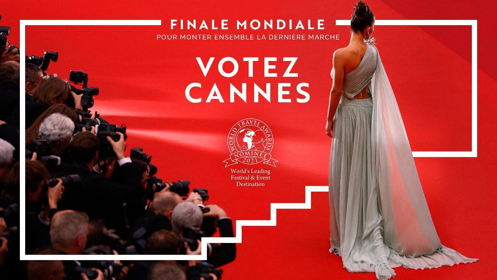 Votez pour Cannes, en tant que première destination mondiale de festivals et d'événements 2021
